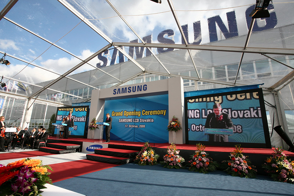 Grand opening of Samsung